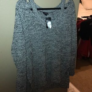 Brand New black and grey sweater